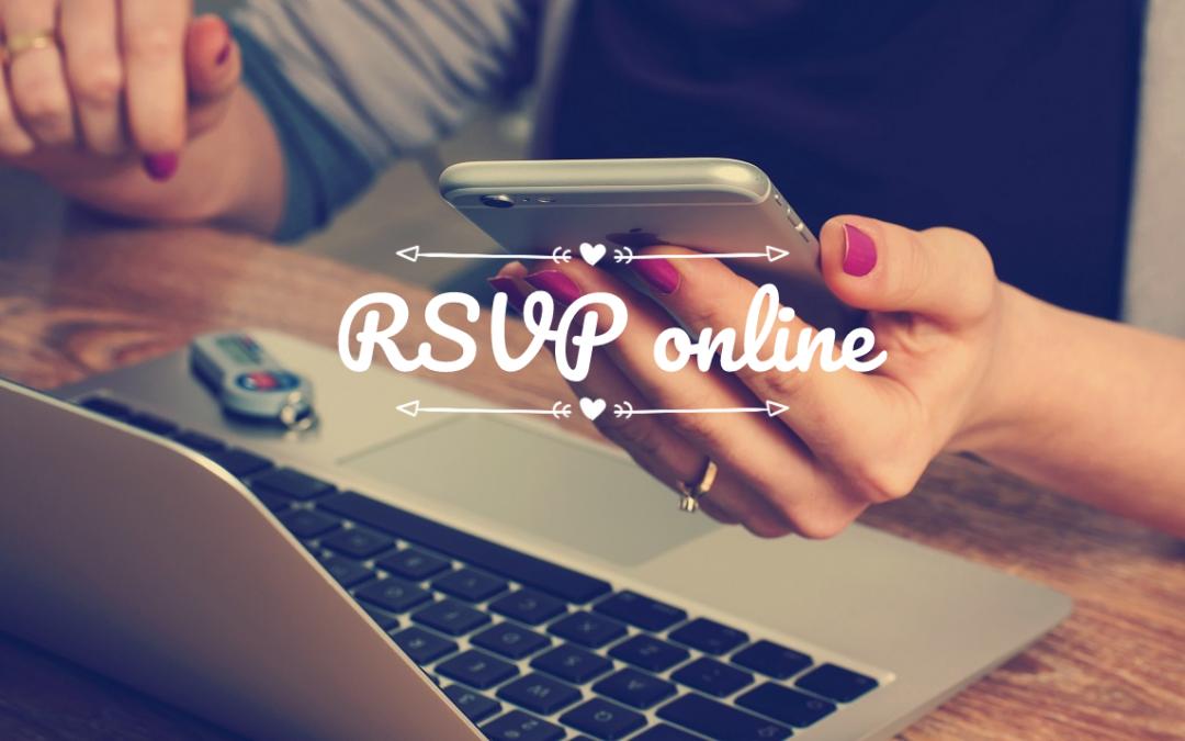 Use o RSVP online na organização do casamento