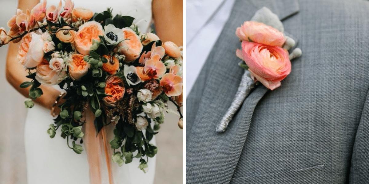 cor coral no casamento