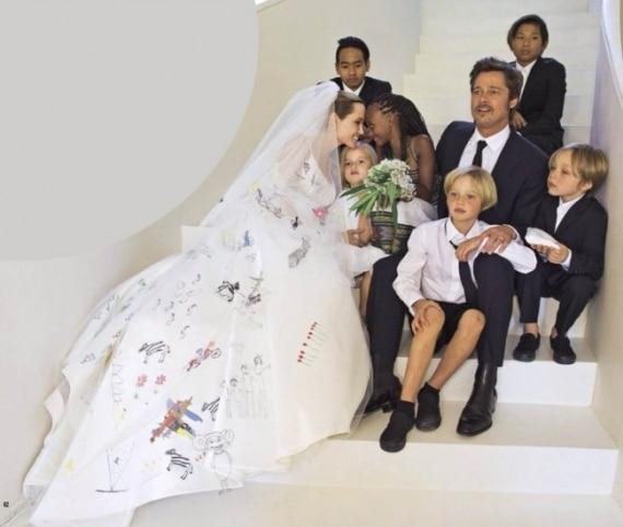 filhos na festa de casamento