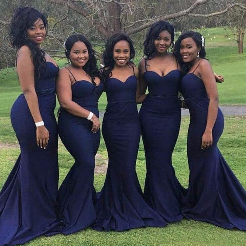 Vestidos de madrinha de casamento azul navy