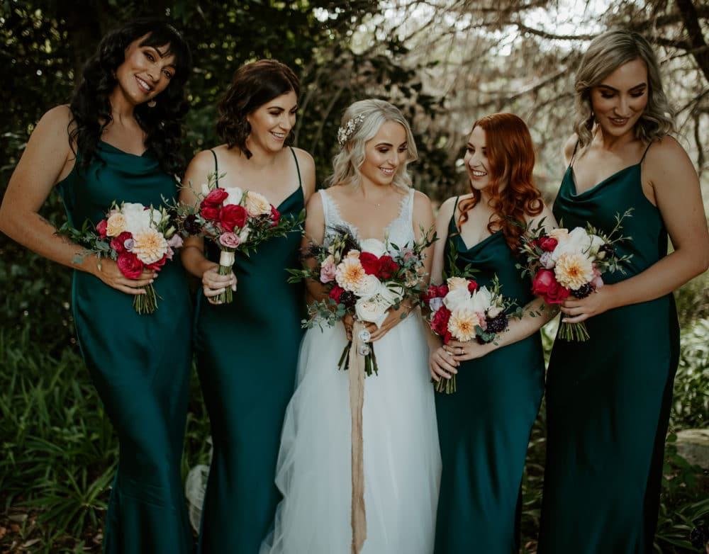 Vestidos de madrinha de casamento verde escuro