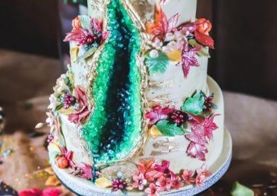 bolos de casamento decorados com flores