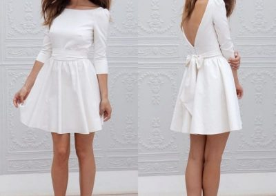 vestido de noiva de casamento civil