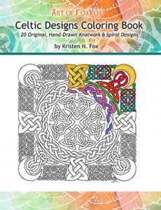 CelticDesignsColoringBookCoverKristenNFox