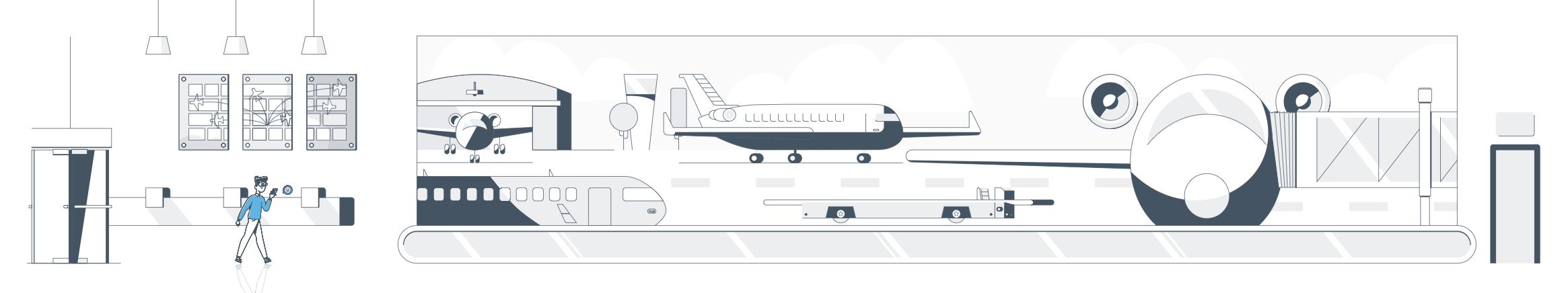 Full airport illustration