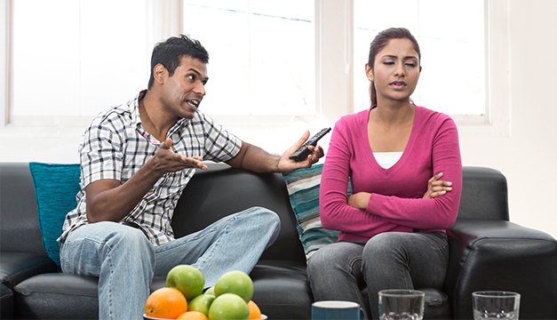 Parejas peleas conflictos matrimonio