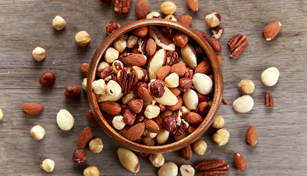 nueces mani semillas proteina dieta
