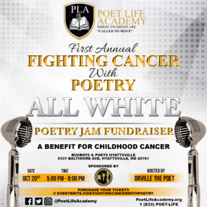 'Fighting Cancer With Poetry' Poetry Jam Fundraiser