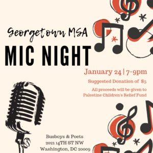 Georgetown MSA Open Mic Night
