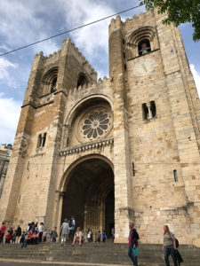 The Lisbon Cathedral and start of the Camino Portuguese.