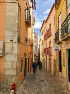 City Street in Lisbon, Portugal