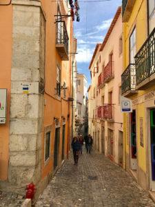 City Street in Lisbon, Portugal