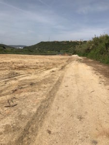 Dirty road ahead on the camino.