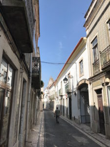 Street scene walking the camino in Santarém.