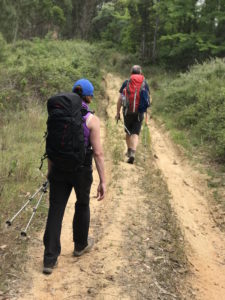 A glimpse of the Irish walking the Camino Portuguese.