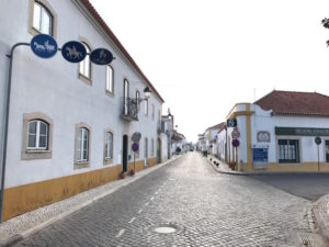 Leaving the town of Golega on the Camino Portuguese.
