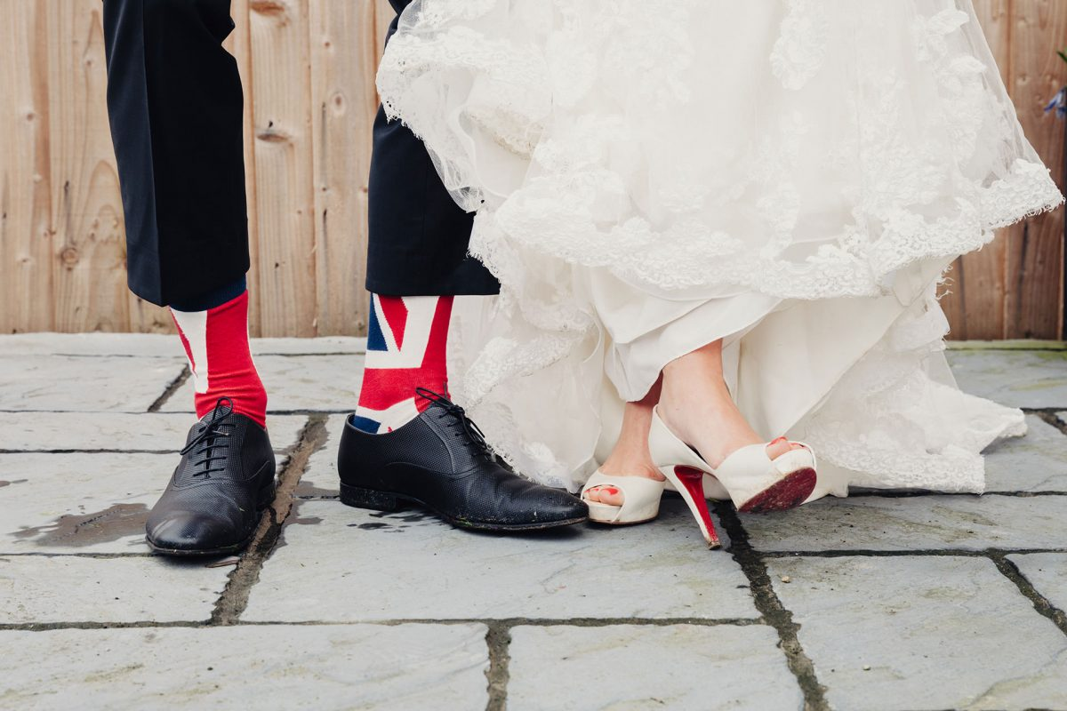 Wedding Photography_Clifton Bristol_bride and groom shoes