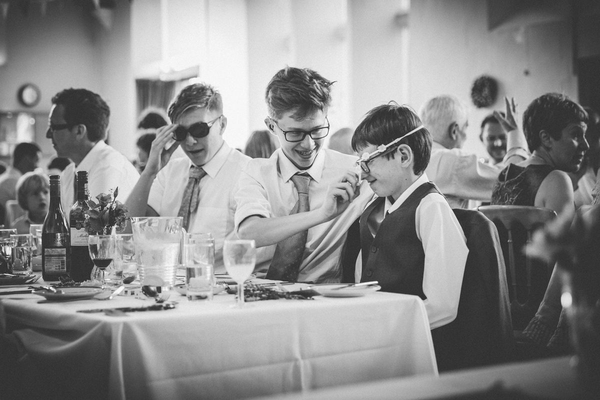 Wedding Photography_Westbury on Trym Village Hall_boys with props