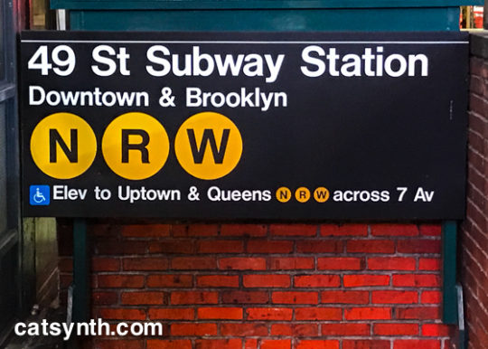 49th St Subway Station N-R-W