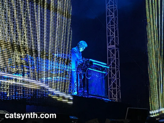 jean-Michel Jarre on stage
