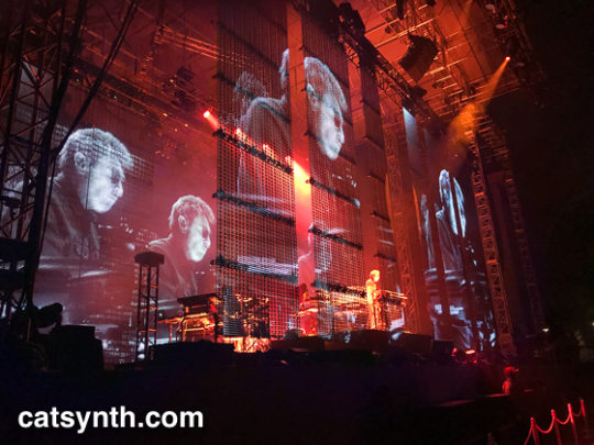 Jean-Michel Jarre in lights