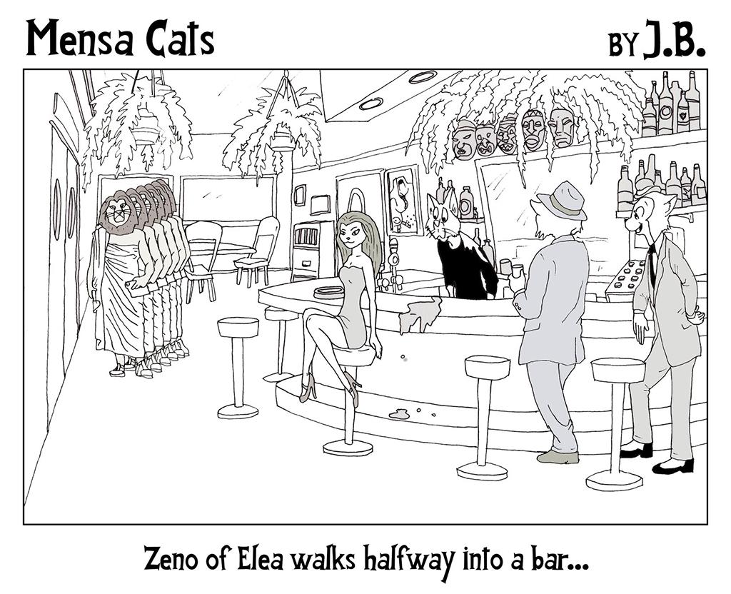 Mensa Cats: Zeno's Paradoxes