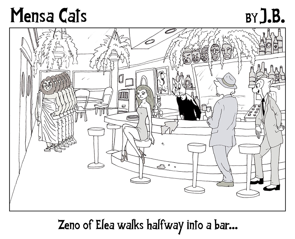 Mensa Cat Monday: Zeno's Paradoxes