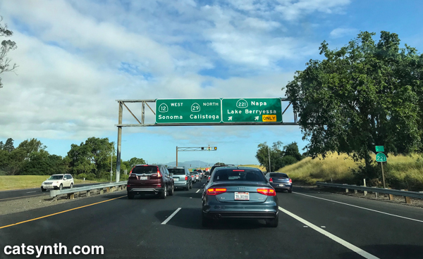 Highways 29, 12, and 221 in Napa