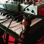 "CatSynth Pic: Korg Poly-800 and ""Time-and-space"" effects pedals"