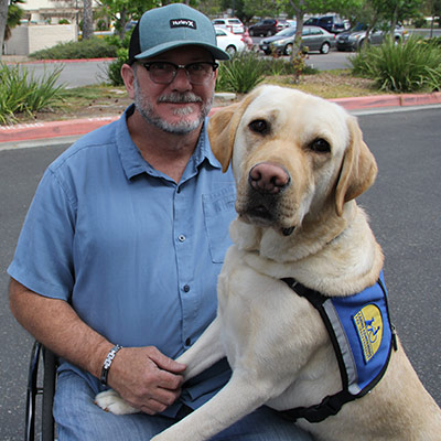 Jay and Service Dog Hurley