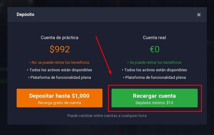 Cuenta demo opciones binarias sin deposito