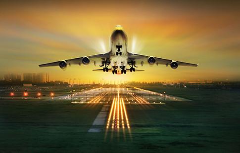 Airplane at take-off