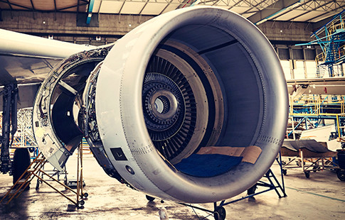 jet engine in service