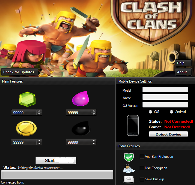Clash of clans gemmes gratuites, gold, elixir