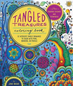 Tangled Treasures Coloring Book: 52 Intricate Tangle Drawings to Color with Pens, Markers, or Pencils - Plus: Coloring schemes and techniques (Tangled Color and Draw)