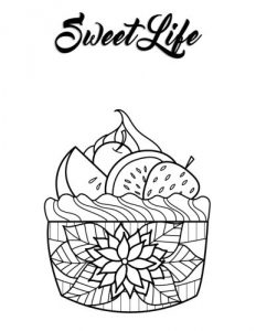 Blank Book Journal: Cupcake Dessert Zentangle Cover Diary Notebook: 8.5 x 11 size 120 lined pages!