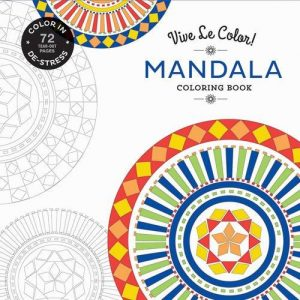 Vive Le Color! Mandala (Adult Coloring Book): Color In; De-stress (72 Tear-out Pages)