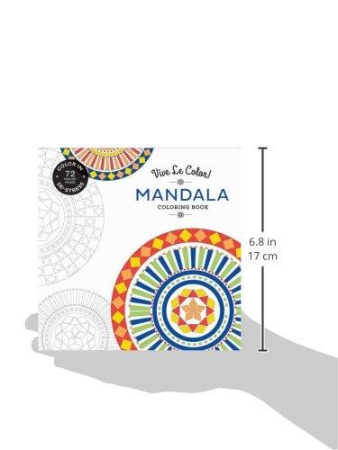Vive Le Color Mandala Adult Coloring Book Color In De