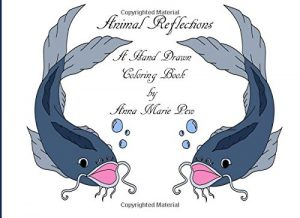 Animal Reflections: A Hand Drawn Coloring Book