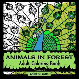 Animals In Forest - Adult Coloring Book By Anika's Crafts