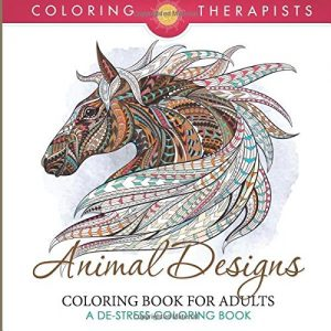 Animal Designs Coloring Book For Adults - A De-Stress Coloring Book