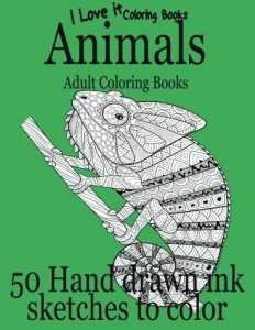 Adult Coloring Books: Animals (I Love It Coloring Books) (Volume 7)
