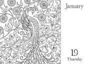 Johanna Basford 2017 Coloring Day-to-Day Calendar