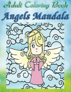 Adult Coloring Book Angels Mandala