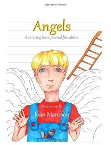 Angels: a coloring book for adults