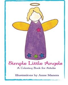 Simple Little Angels: A Coloring Book for Adults