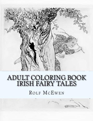 Adult Coloring Book Irish Fairy Tales
