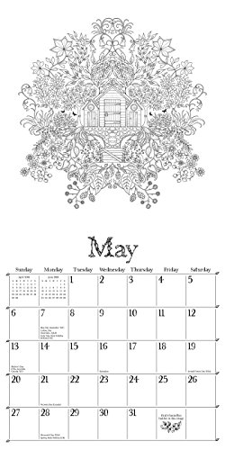 May Calendar Book : Secret garden wall calendar an inky treasure hunt