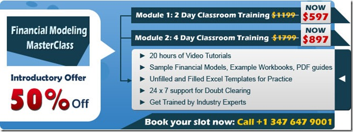 Financial Modeling Master Class
