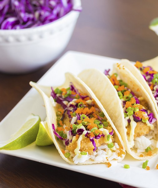 Baja-style Mahi Mahi Tacos